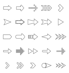 Arrow line icons on white background vector