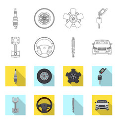 Auto and part symbol set vector