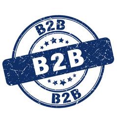 B2b blue grunge stamp vector