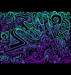 Bright abstract pattern ethno style stylish vector