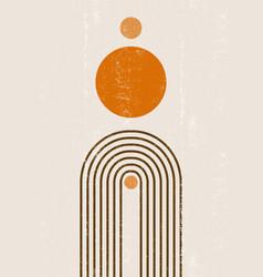 burnt orange sun print boho minimalist printable vector image