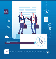 business agreement concept businessman vector image