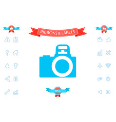 camera symbol icon vector image