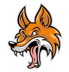 cartoon of bad fox vector image