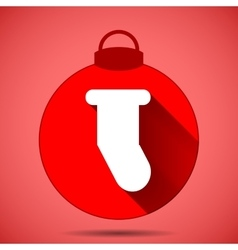 Christmas icon with the silhouette of a sock on vector