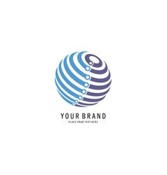 Circle tech logo vector