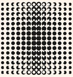Circles digital pop art halftone seamless pattern vector