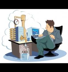 computer distillery vector image