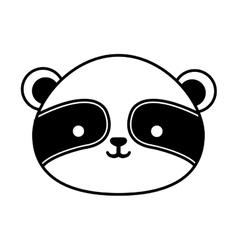 Cute raccoon isolated icon vector