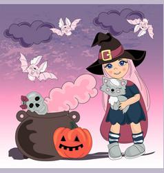 Darkness feast halloween color vector