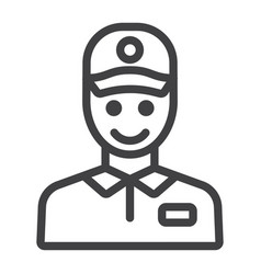 Delivery man line icon logistic and delivery vector