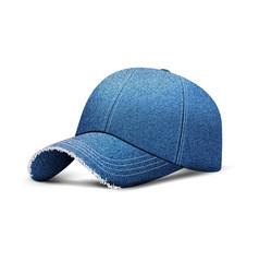 Denim baseball cap with shadow uniform cap hat vector