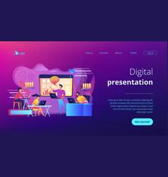 digital presentation concept landing page vector image