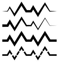 Ecg ekg or generic beat rhythm lines with 4 line vector