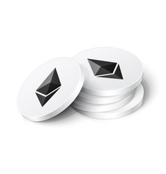 ethereum cryptocurrency tokens vector image