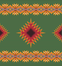Ethnic seamless pattern aztec tribal art print vector