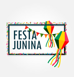 festa junina celebration background holiday vector image