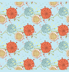 flower seamless pattern on a background vector image