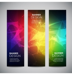 Geometric lowpoly abstract modern banners vector image