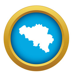 Germany map icon blue isolated vector