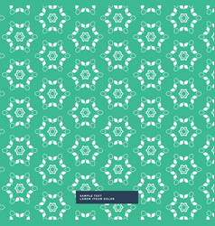 Green background with flower pattern vector