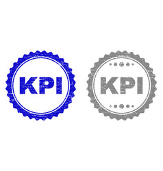 Grunge kpi scratched stamp seals vector