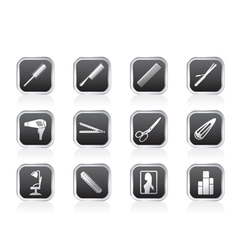 hairdressing and make-up icons vector image