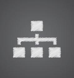 hierarchy sketch logo doodle icon vector image