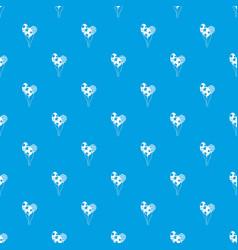 holiday balls pattern seamless blue vector image