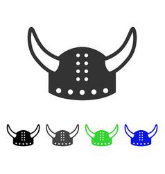 horned helmet flat icon vector image