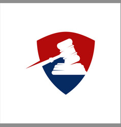 Justice shield template vector