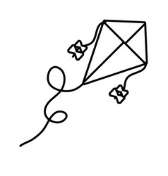 Kite flying toy line style icon vector