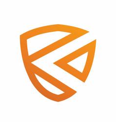 Letter k shield logo design template vector