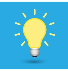 Light bulb creative idea vector