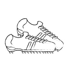 Monochrome blurred silhouette with pair of soccer vector