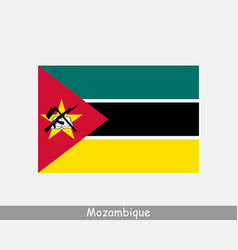 Mozambique mozambican national country flag banner vector
