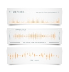 Music banners design vector image