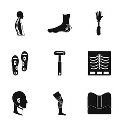 Orthopedic icon set simple style vector