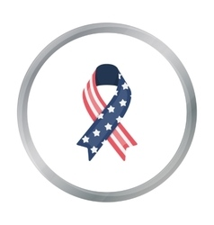 Patriotic ribbon icon in cartoon style isolated on vector