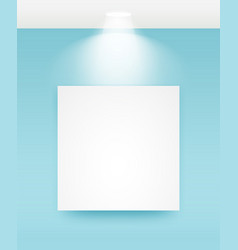 picture frame with light vector image