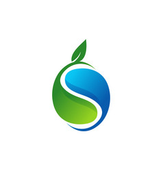 plant water ecology logo waterdrop symbol icon vector image