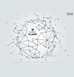 Polygonal abstract world map vector