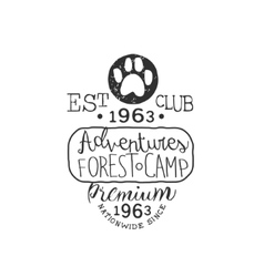 Premium Adventure Club Vintage Emblem vector image