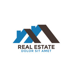real estate house graphic design template vector image