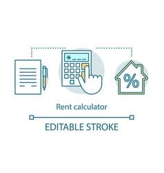 rent calculator concept icon vector image