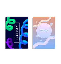 set of modern trendy style abstraction vector image