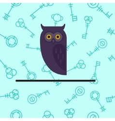 Set of Owl Design Elements in Linear Style vector image vector image