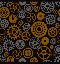 steampunk cogwheels seamless pattern vector image