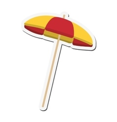 Striped parasol icon vector