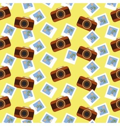 Summer photo pattern vector image